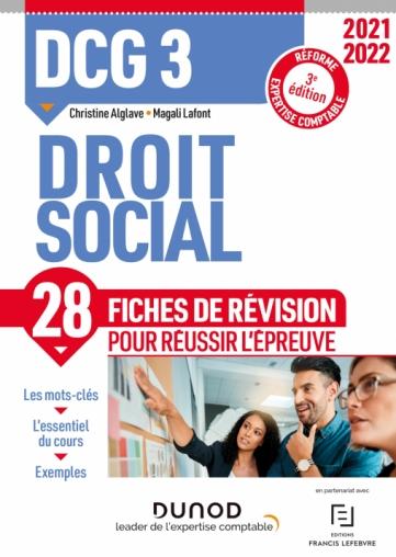 DCG 3 Droit social - Fiches de révision - 2021/2022