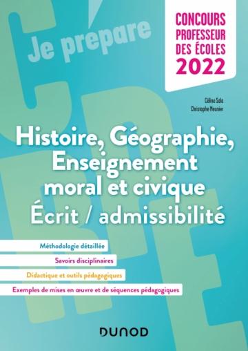 Concours Professeur des écoles - Histoire Géographie EMC 2022