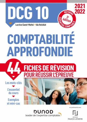 DCG 10 Comptabilité approfondie - Fiches de révision 2021-2022