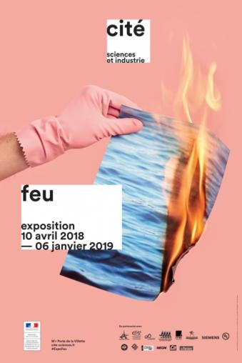 """Affiche Exposition """"feu"""""""