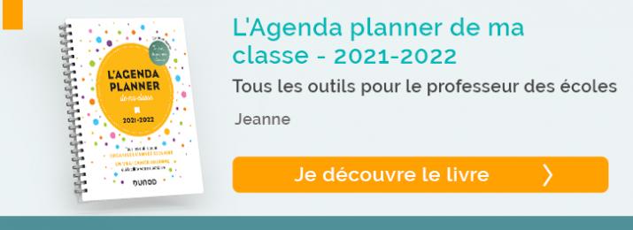 Découvrir l'Agenda planner de ma classe 2021-2022
