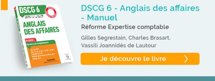 """decouvrez le livre """"manuel DCG6 - Anglais des affaires"""""""
