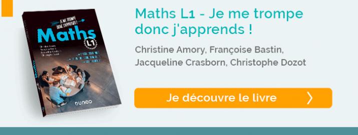 """Découvrir le livre  """"Maths L1 - Je me trompe donc j'apprends !"""""""