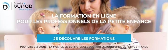 Decouvrir les formations en ligne pour les professionnels de la Petite Enfance- Dunod