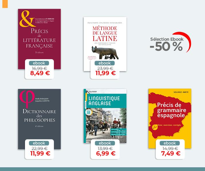 Selection Ebook - Lettres et langues à -50%