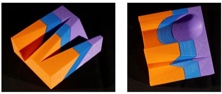 Fig. 3 : Modèles imprimés en 3D