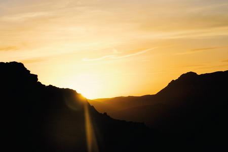 composition photo de coucher de soleil
