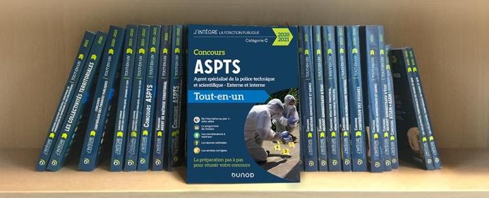 Livre idéale pour préparer le concours d'agent spécialisé de la police technique et scientifique ASPTS