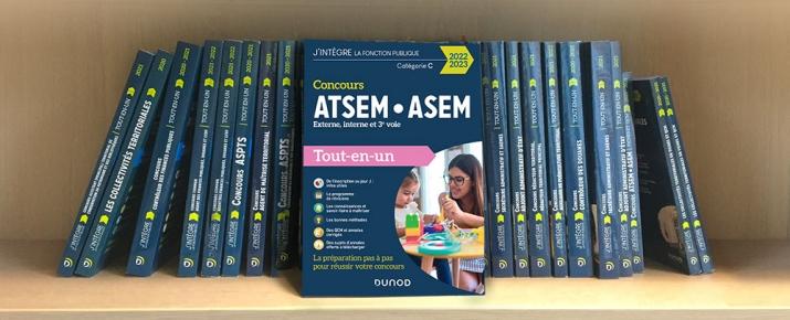 Livre idéal pour préparer concours ATSEM/ASEM - fonction publique