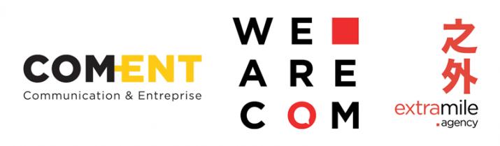 Partenaires du Communicator 2020 : Com-ent ; We are com ; Extramile agency