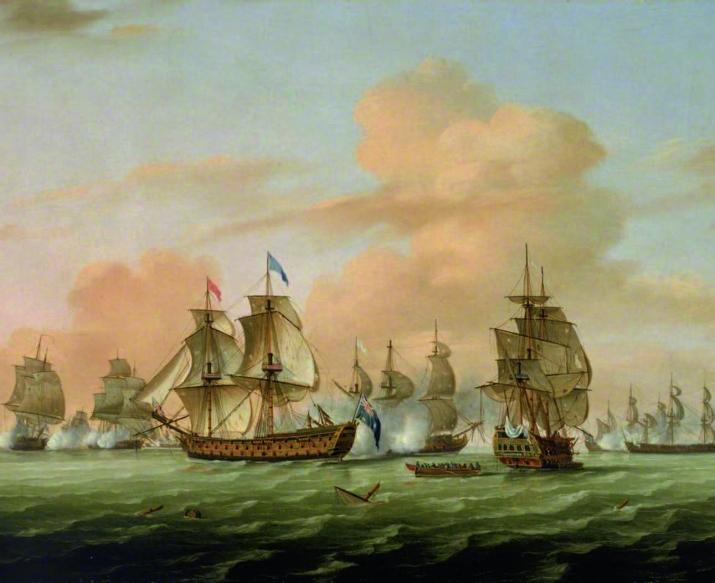 La bataille de Lagos (1759) par Thomas Luny