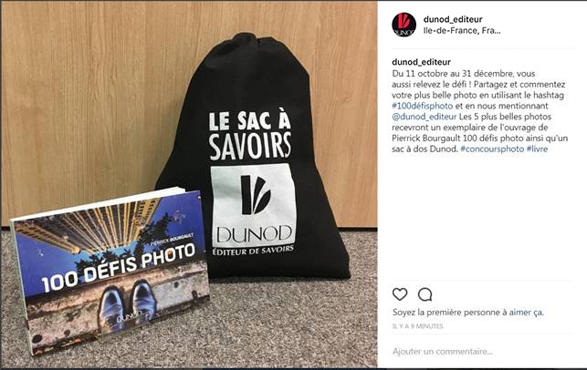 Concours Instagram : 100 défis photo
