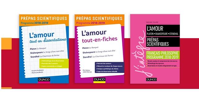 """Sélection : Prépas commerciales et scientifiques - thème de français-philosophie """"l'amour"""""""