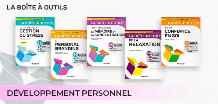 """Sélection Développement Personnel des """"boîtes à outils"""" Dunod"""
