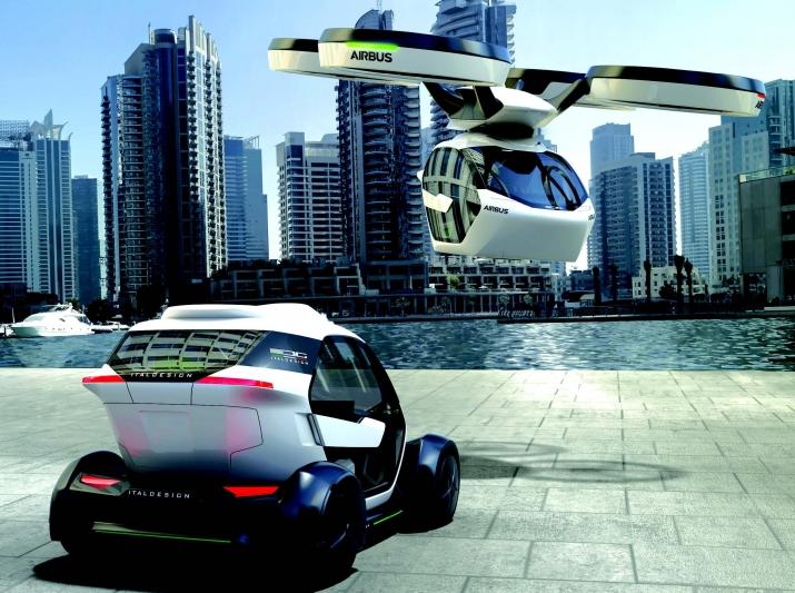 Airbus a aussi présenté en 2018 un concept de véhicule volant basé sur la convergence entre des véhicules et des ailes volantes.
