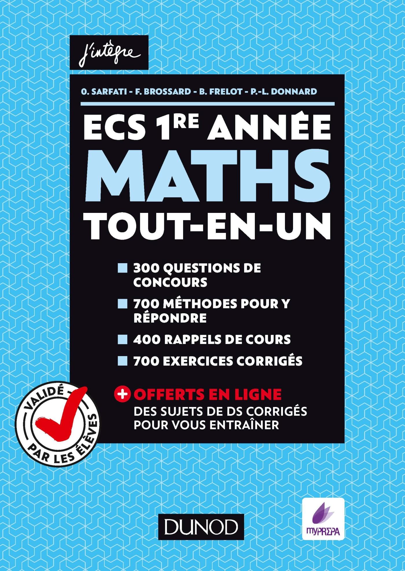 Ecs 1re Année Maths Tout En Un Validé Par Les élèves Livre
