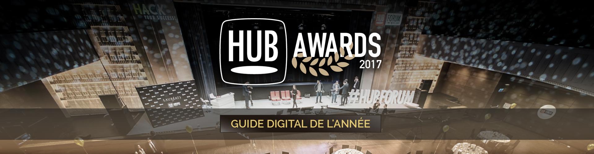 Olivier Laborde Trophée HUB Awards 2017 Guide digital de l'année